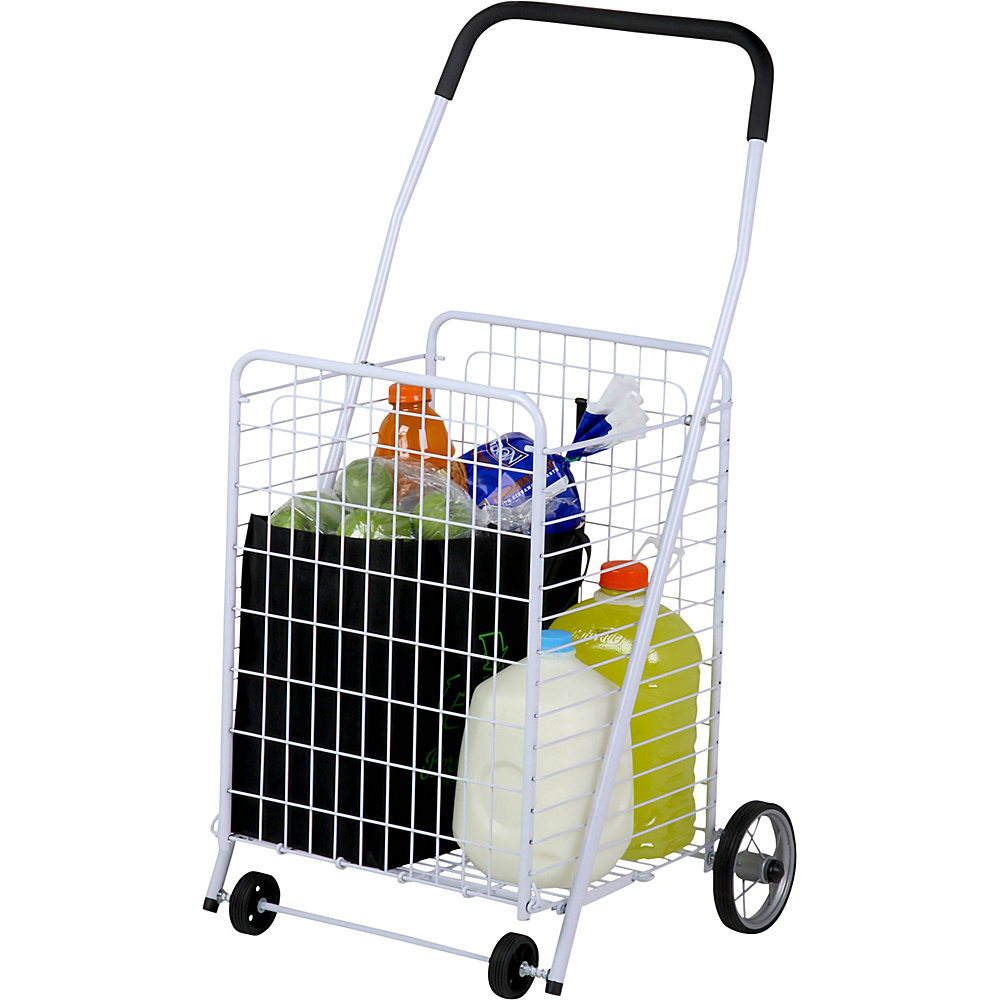 Honey Can Do 4 Wheel Utility Cart white Honey Can Do Luggage Accessories