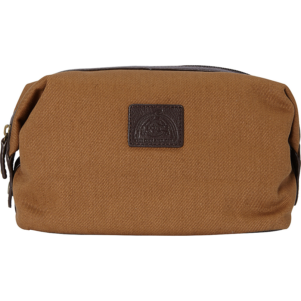 Dopp Hampton Carry All Travel Toiletry Kit British Tan Dopp Toiletry Kits