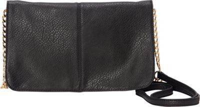 HButler The Mighty Purse Flap Crossbody Bag Black - HButler Manmade Handbags