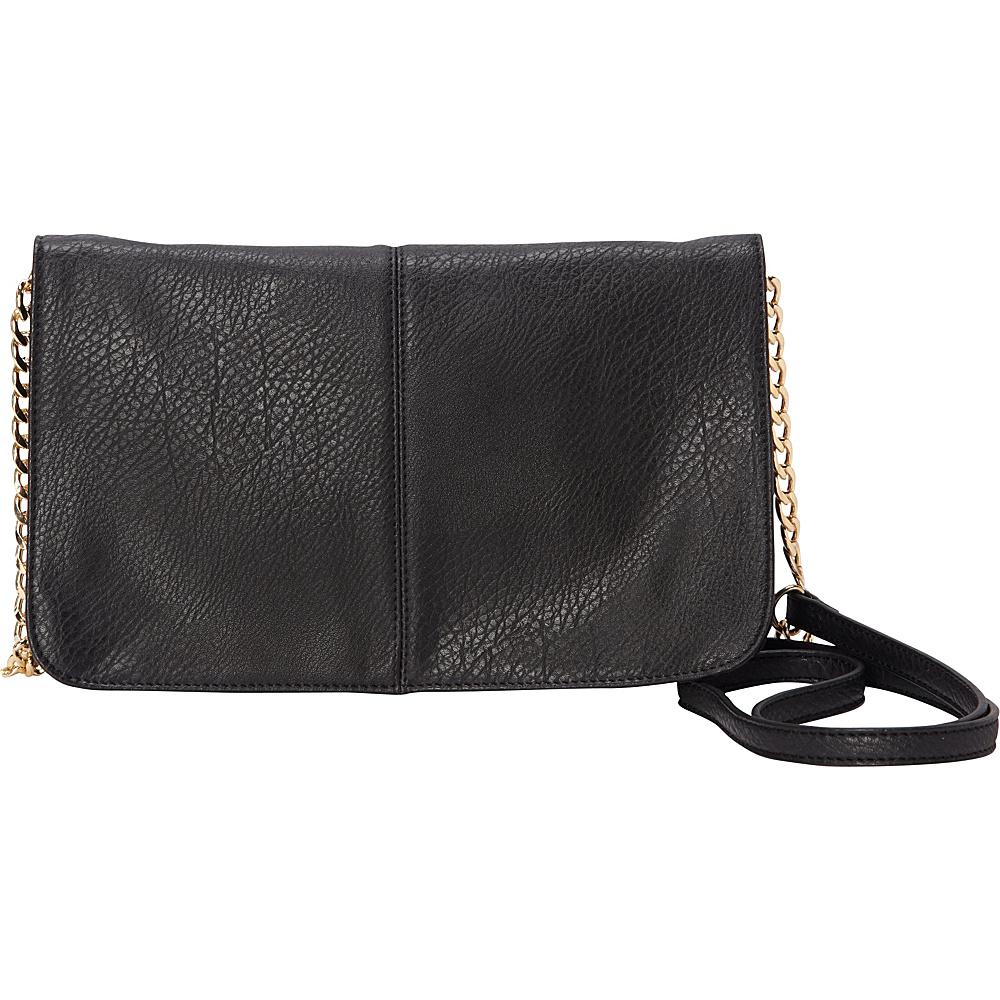 HButler The Mighty Purse Flap Crossbody Bag Black HButler Manmade Handbags