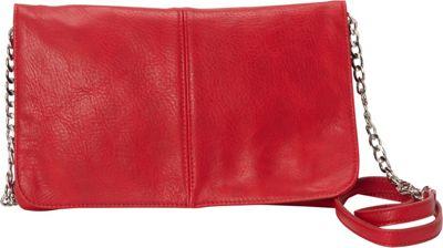 HButler The Mighty Purse Flap Crossbody Bag Red - HButler Manmade Handbags