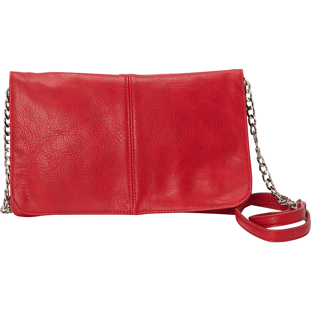 HButler The Mighty Purse Flap Crossbody Bag Red HButler Manmade Handbags