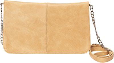 HButler The Mighty Purse Flap Crossbody Bag Tan - HButler Manmade Handbags