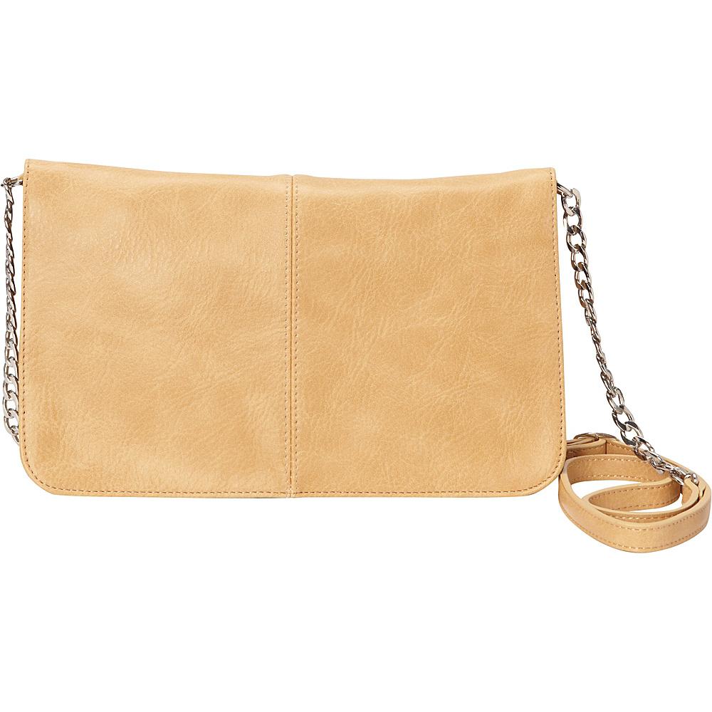 HButler The Mighty Purse Flap Crossbody Bag Tan HButler Manmade Handbags