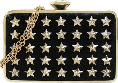 JNB Star Studs Urban Box Clutch Black - JNB Evening Bags