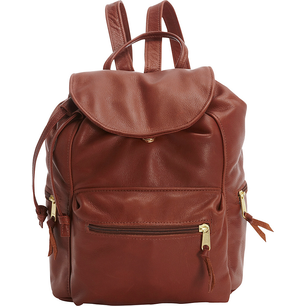 Victoria Leather Sousa Backpack Cognac - Victoria Leather Leather Handbags