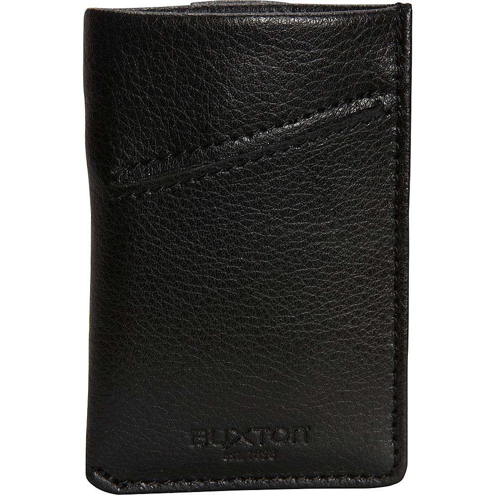 Buxton Addison RFID Pull Tab Cash/Card Case Wallet Black - Buxton Mens Wallets - Work Bags & Briefcases, Men's Wallets