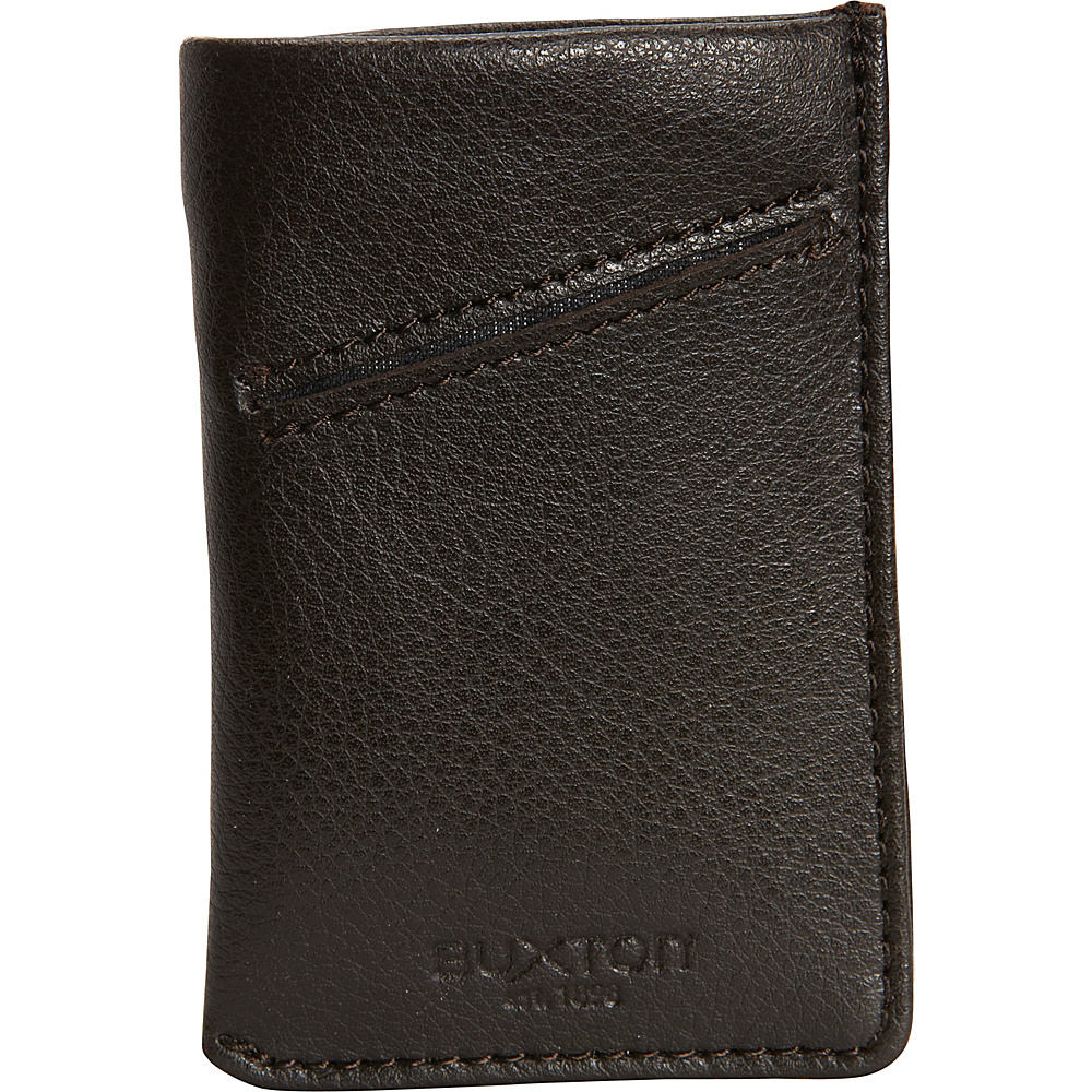 Buxton Addison RFID Pull Tab Cash/Card Case Wallet Brown - Buxton Mens Wallets - Work Bags & Briefcases, Men's Wallets