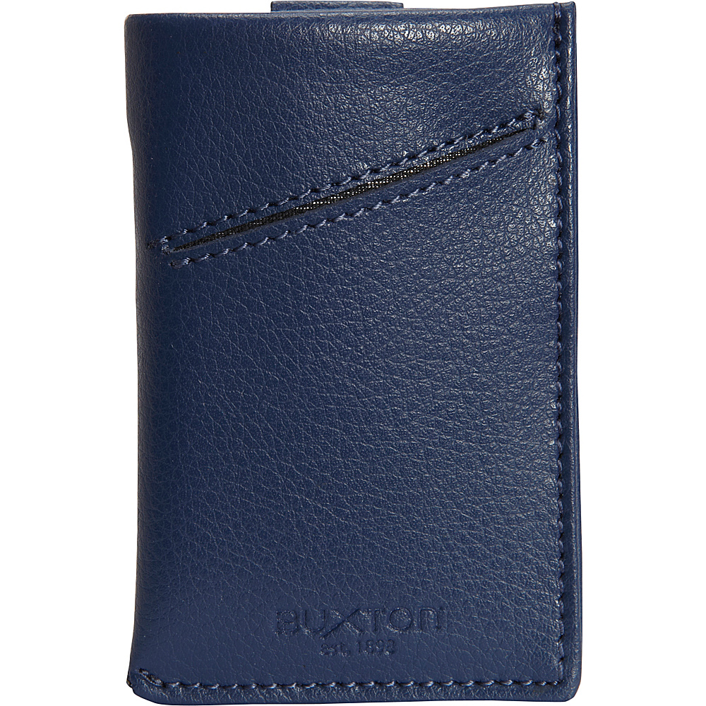 Buxton Addison RFID Pull Tab Cash/Card Case Wallet Indigo - Buxton Mens Wallets - Work Bags & Briefcases, Men's Wallets