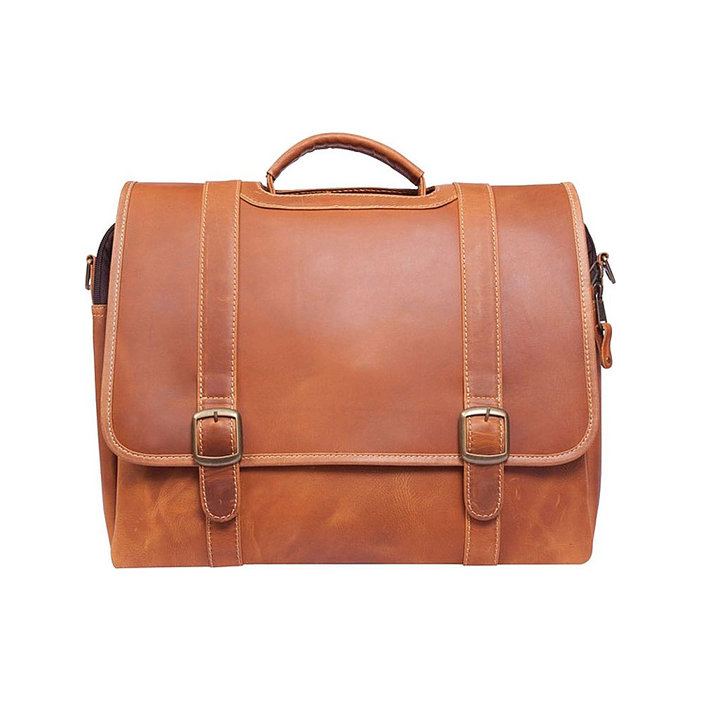 Canyon Outback Old Fort Canyon Leather Laptop Briefcase Distressed Tan Canyon Outback Non Wheeled Business Cases
