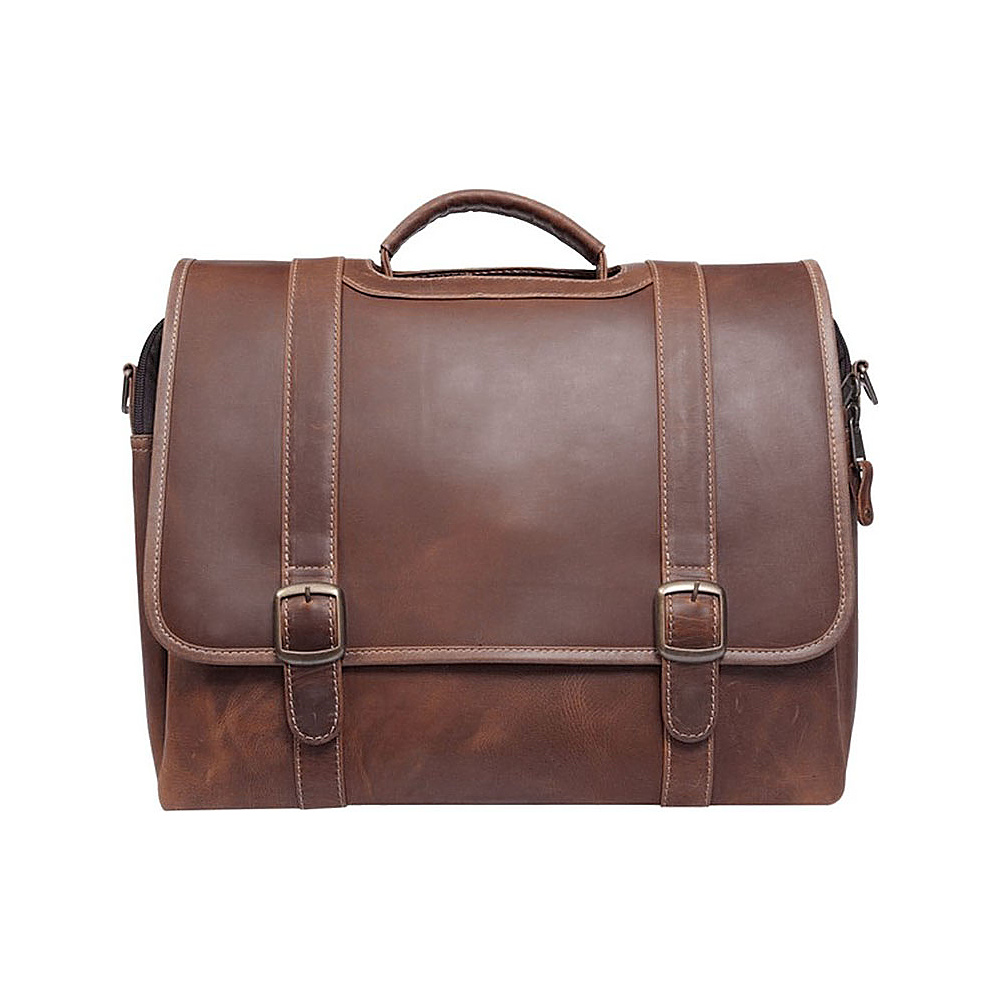 Canyon Outback Old Fort Canyon Leather Laptop Briefcase Distressed Brown Canyon Outback Non Wheeled Business Cases