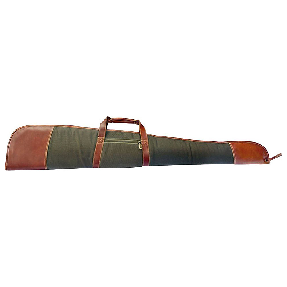 Canyon Outback Coyote Ridge Canyon 53 Inch Leather and Canvas Rifle Case Green Canyon Outback Other Sports Bags