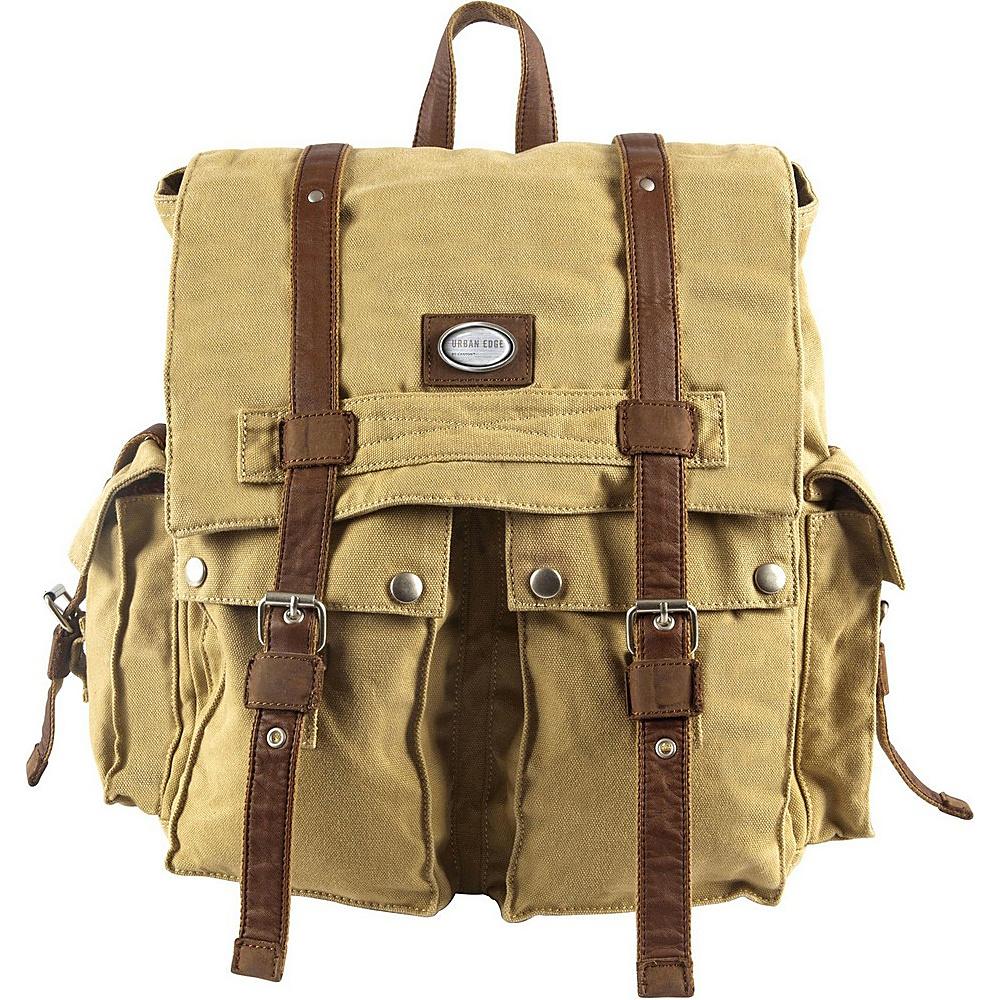 "Canyon Outback Urban Edge Cruz 16"" Canvas Backpack Tan - Canyon Outback Everyday Backpacks"