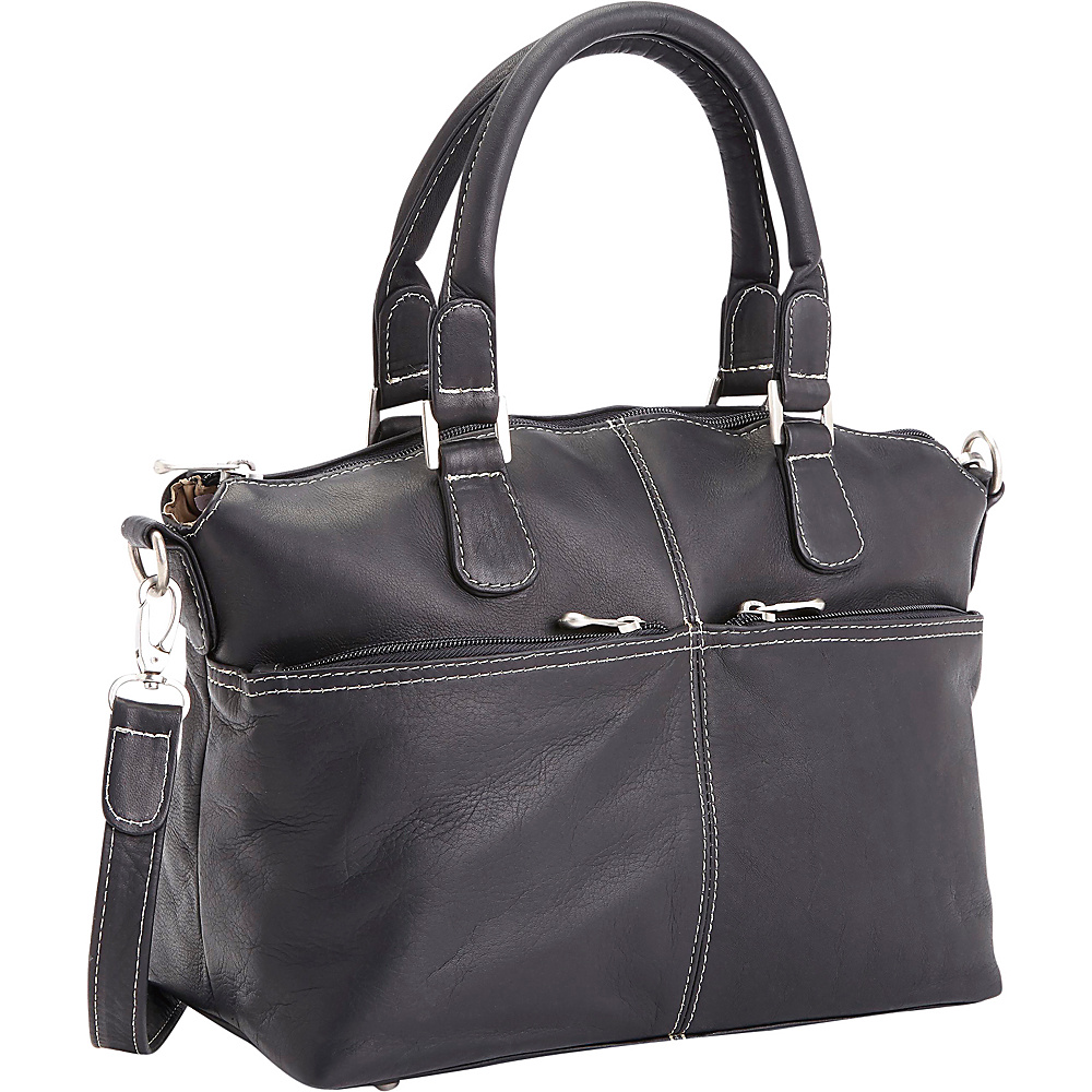 Royce Leather Colombian Leather Weekender Travel Duffel Black Royce Leather Leather Handbags