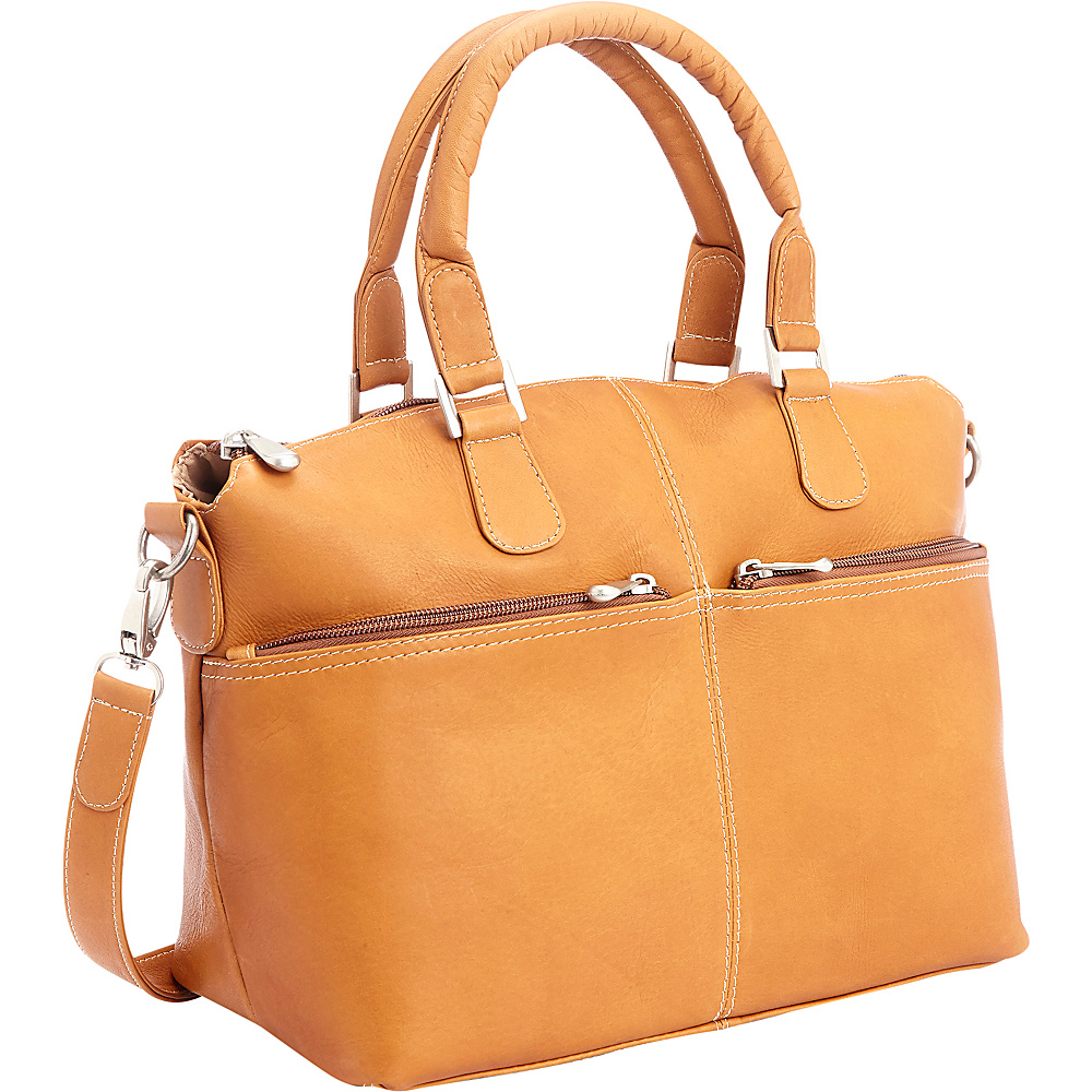 Royce Leather Colombian Leather Weekender Travel Duffel Tan Royce Leather Leather Handbags