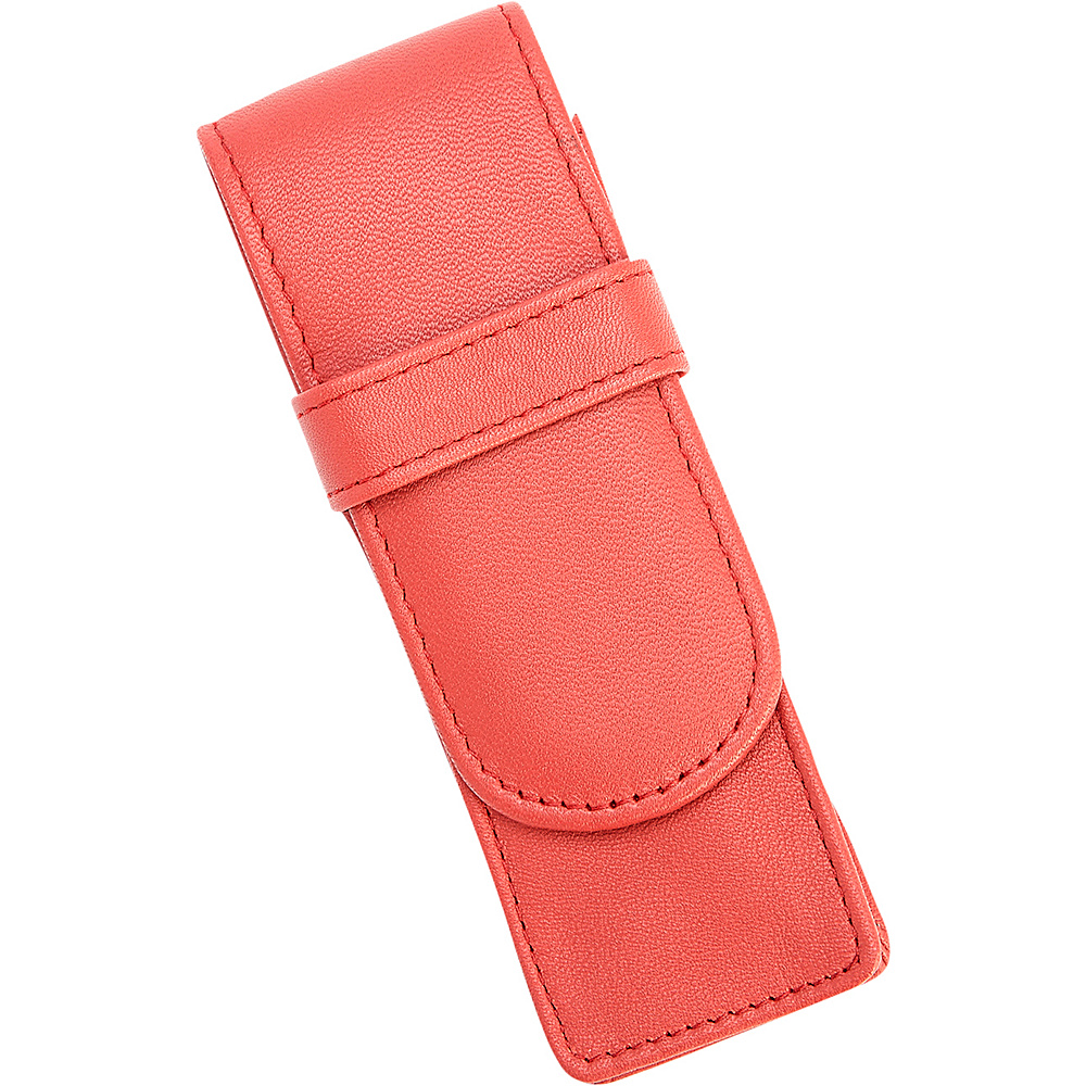 Royce Leather 2 Slot Fountain Leather Pen Case Red - Royce Leather Electronic Accessories - Technology, Electronic Accessories