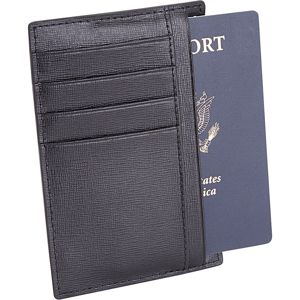 Royce Leather RFID Blocking Slim Passport Wallet Black - Royce Leather Travel Wallets - Travel Accessories, Travel Wallets