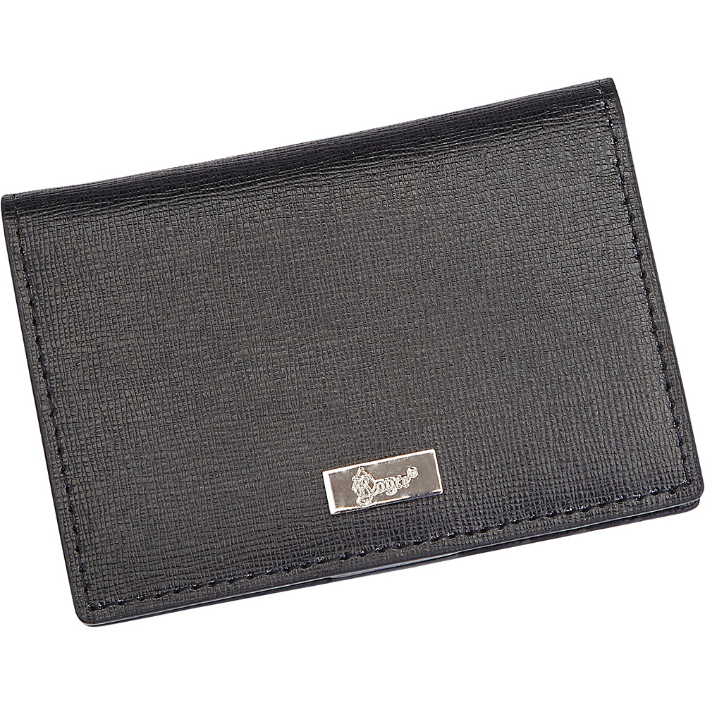 Royce Leather RFID Blocking ID Card Case Wallet Black - Royce Leather Travel Wallets - Travel Accessories, Travel Wallets