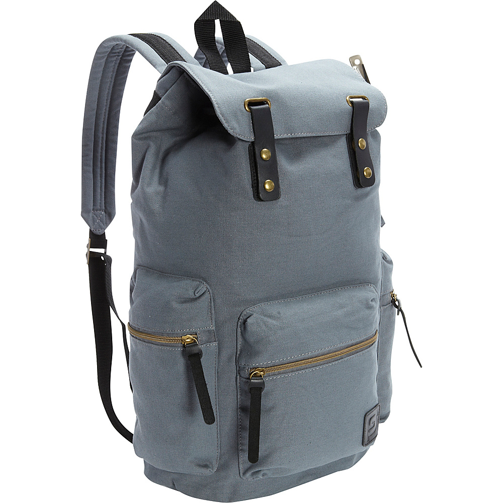 Sydney Paige Buy One Give One Guidi Laptop Backpack Gray Skies Sydney Paige Business Laptop Backpacks