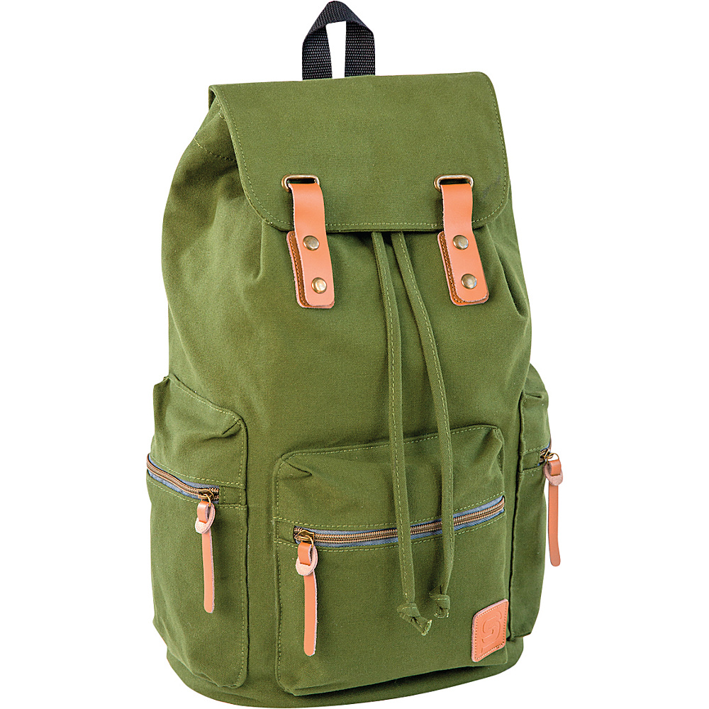 Sydney Paige Buy One Give One Guidi Laptop Backpack Army Green Sydney Paige Business Laptop Backpacks