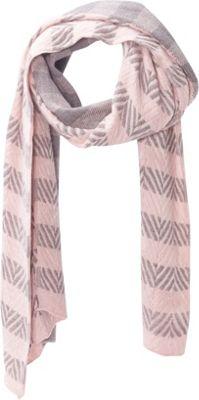 Jessica McClintock Scarves Chunky Oversized Check Stripe Scarf/Wrap Pink - Jessica McClintock Scarves Hats/Gloves/Scarves