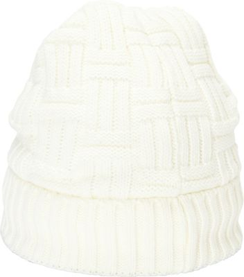 Magid Cross Knit Beanie One Size - Bone - Magid Hats/Gloves/Scarves