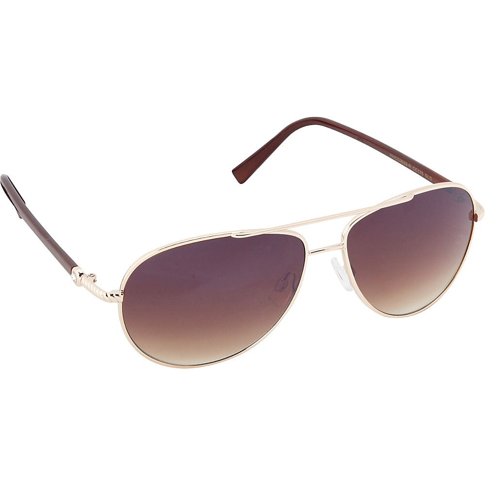 Circus by Sam Edelman Sunglasses Aviator Sunglasses Gold Brown Circus by Sam Edelman Sunglasses Sunglasses