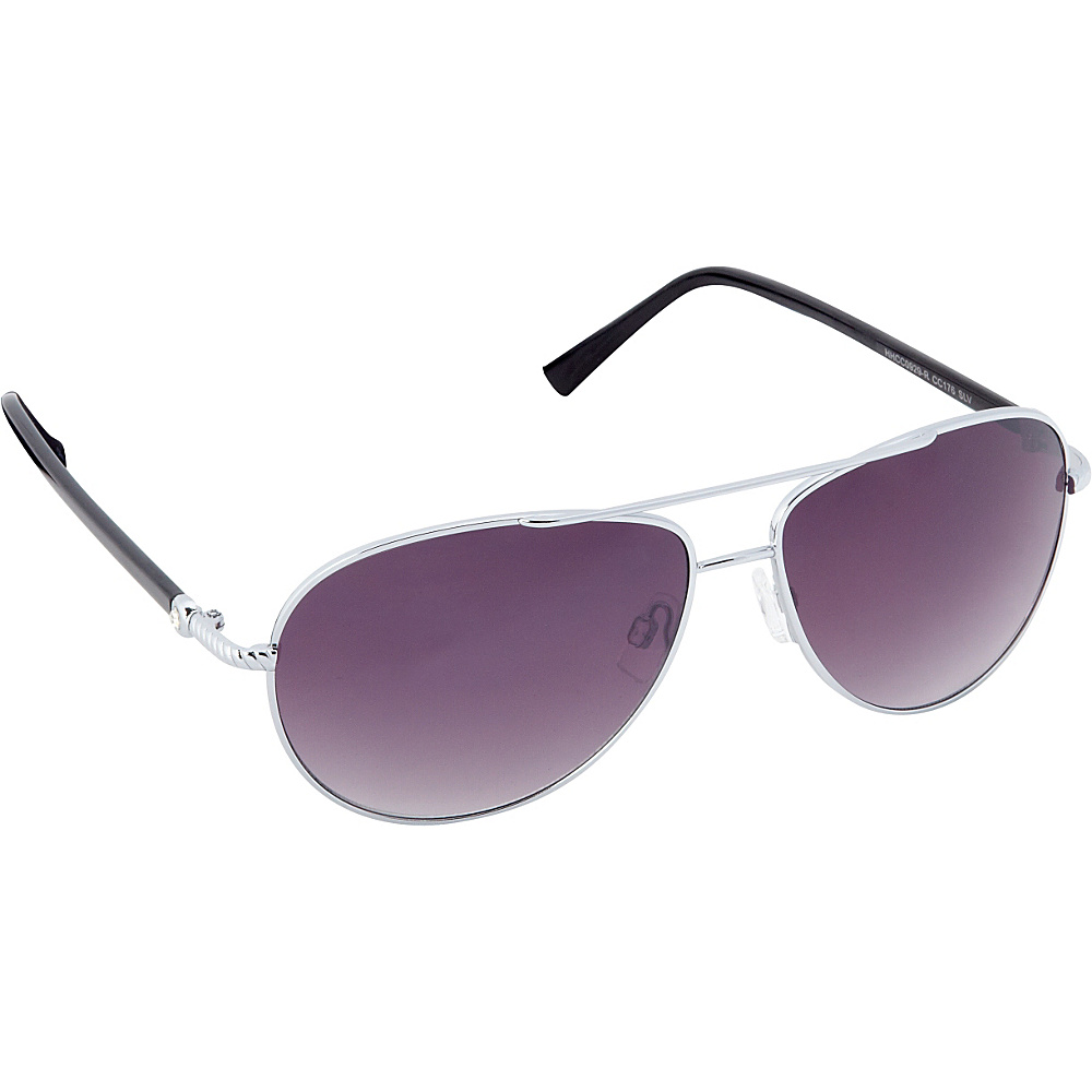 Circus by Sam Edelman Sunglasses Aviator Sunglasses Silver Black Circus by Sam Edelman Sunglasses Sunglasses