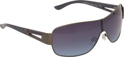 SouthPole Eyewear Metal Shield Sunglasses Gun/Blue - SouthPole Eyewear Sunglasses