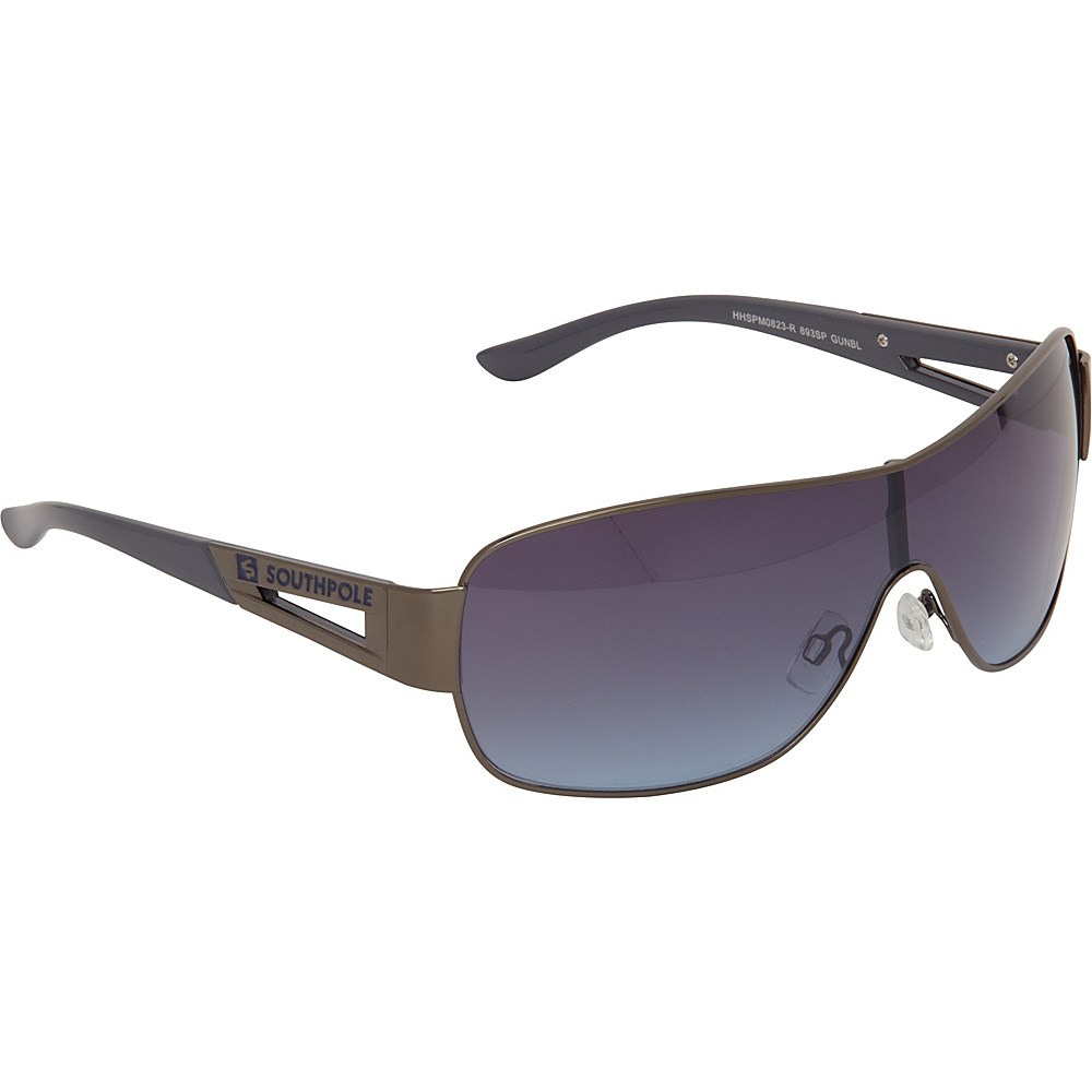 SouthPole Eyewear Metal Shield Sunglasses Gun Blue SouthPole Eyewear Sunglasses