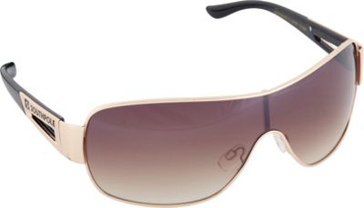 SouthPole Eyewear Metal Shield Sunglasses Gold/Black - SouthPole Eyewear Sunglasses