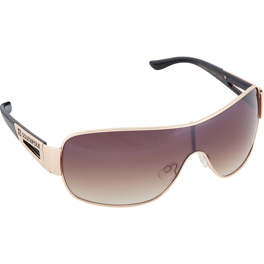 SouthPole Eyewear Metal Shield Sunglasses Gold Black SouthPole Eyewear Sunglasses