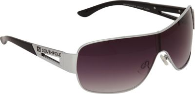 SouthPole Eyewear Metal Shield Sunglasses Silver/Black - SouthPole Eyewear Sunglasses