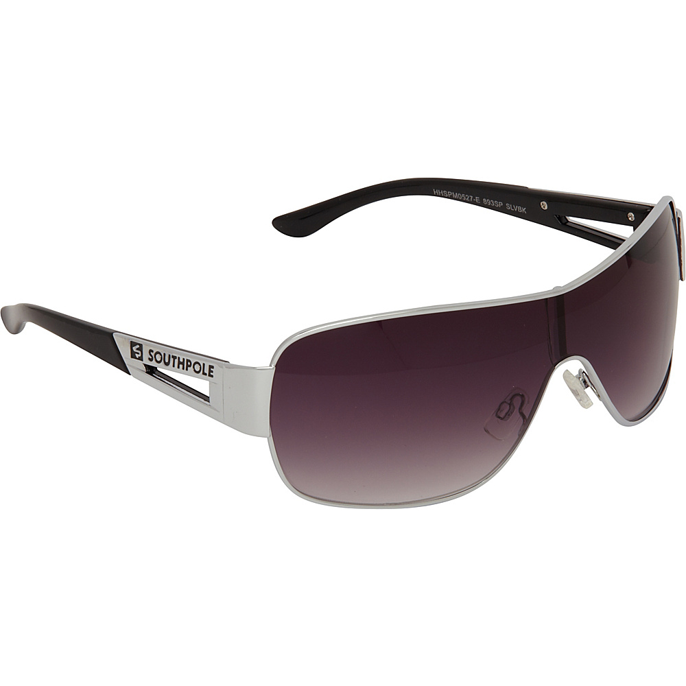 SouthPole Eyewear Metal Shield Sunglasses Silver Black SouthPole Eyewear Sunglasses