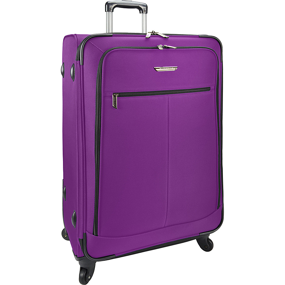 Traveler s Choice Merced Lightweight 31 Spinner Luggage Purple Traveler s Choice Softside Checked