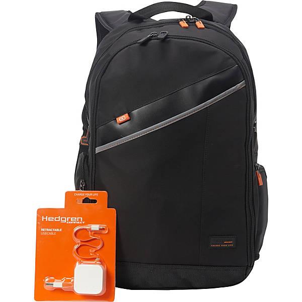 5ef56063423 Hedgren Framework Laptop Backpack with Retractable USB Cord