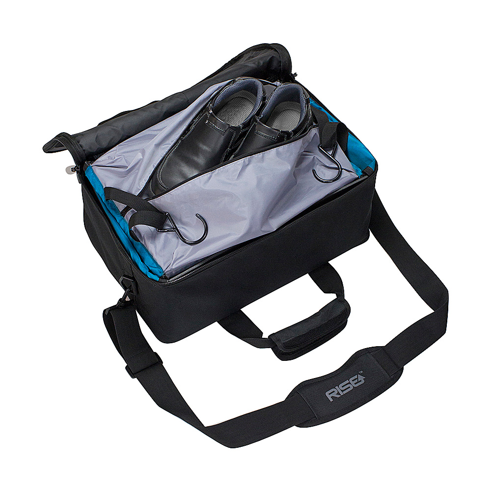 Rise Gear Jumper Travel Bag with Collapsible Shelves Grey - Rise Gear Softside Carry-On