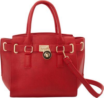 SW Global Karel Satchel Bag Red - SW Global Manmade Handbags