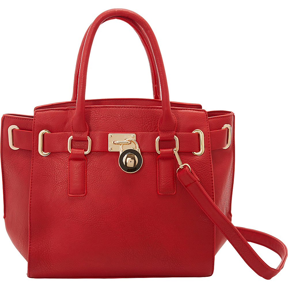 SW Global Karel Satchel Bag Red - SW Global Manmade Handbags - Handbags, Manmade Handbags