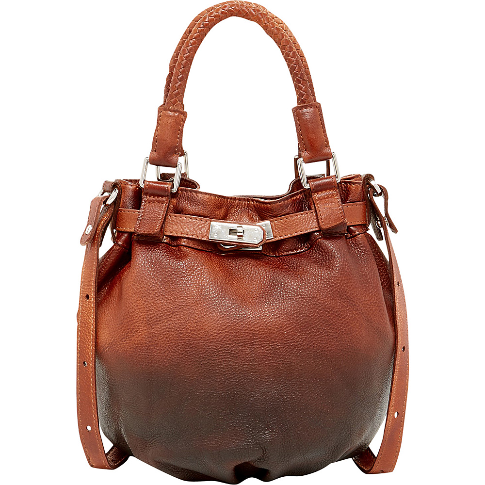 Old Trend Pumpkin Bucket Bag Chestnut Coffee Ombre Old Trend Leather Handbags