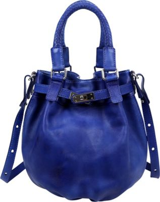 Old Trend Pumpkin Bucket Bag Sky Blue - Old Trend Leather Handbags