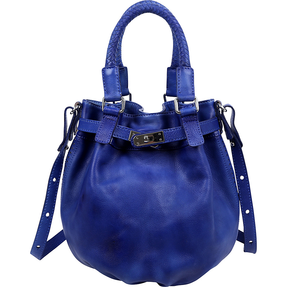 Old Trend Pumpkin Bucket Bag Sky Blue Old Trend Leather Handbags