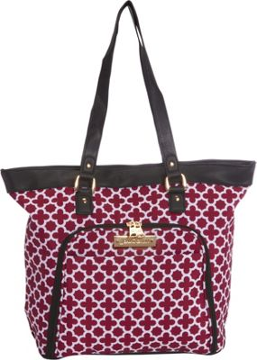 Jenni Chan Aria Broadway 18 inch Computer Tote Cranberry - Jenni Chan Luggage Totes and Satchels