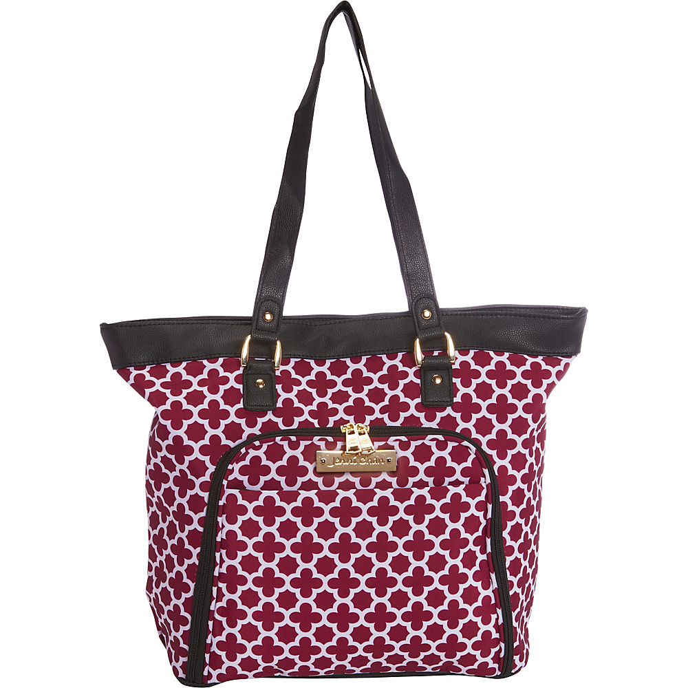 Jenni Chan Aria Broadway 18 Computer Tote Cranberry Jenni Chan Luggage Totes and Satchels