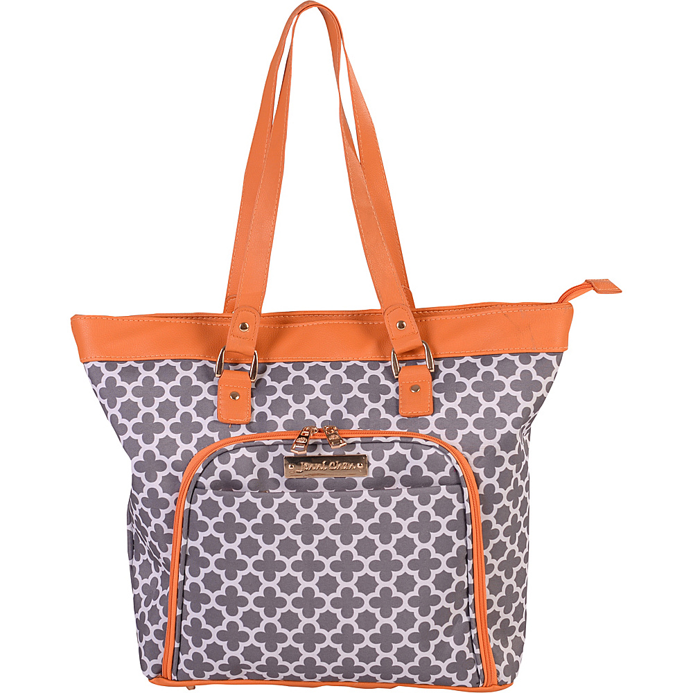 "Jenni Chan Aria Broadway 18"" Computer Tote Grey - Jenni Chan Luggage Totes and Satchels"