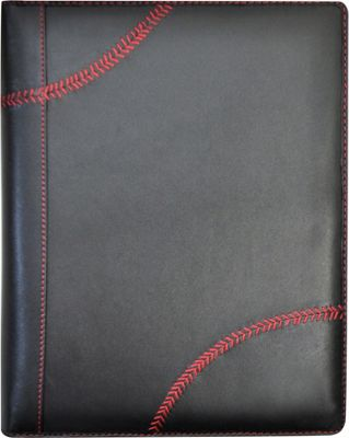 Rawlings Baseball Stitch Padfolio  and Tablet Case Black - Rawlings Business Accessories