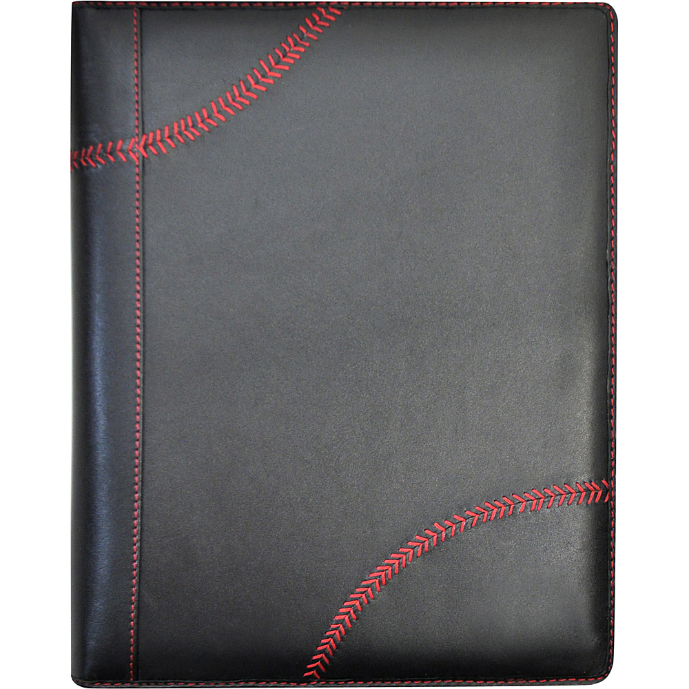Rawlings Baseball Stitch Padfolio and Tablet Case Black Rawlings Business Accessories