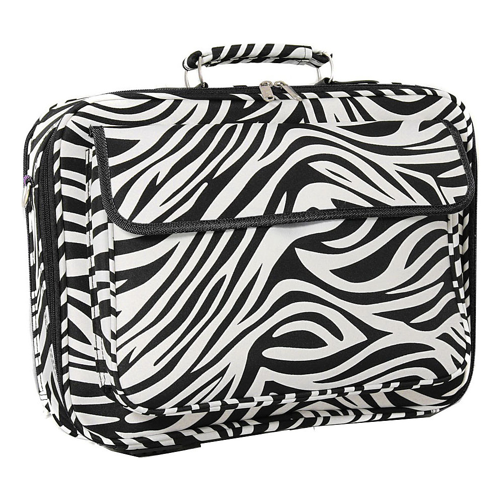 World Traveler Zebra 17 Laptop Case Black Trim Zebra - World Traveler Non-Wheeled Business Cases - Work Bags & Briefcases, Non-Wheeled Business Cases