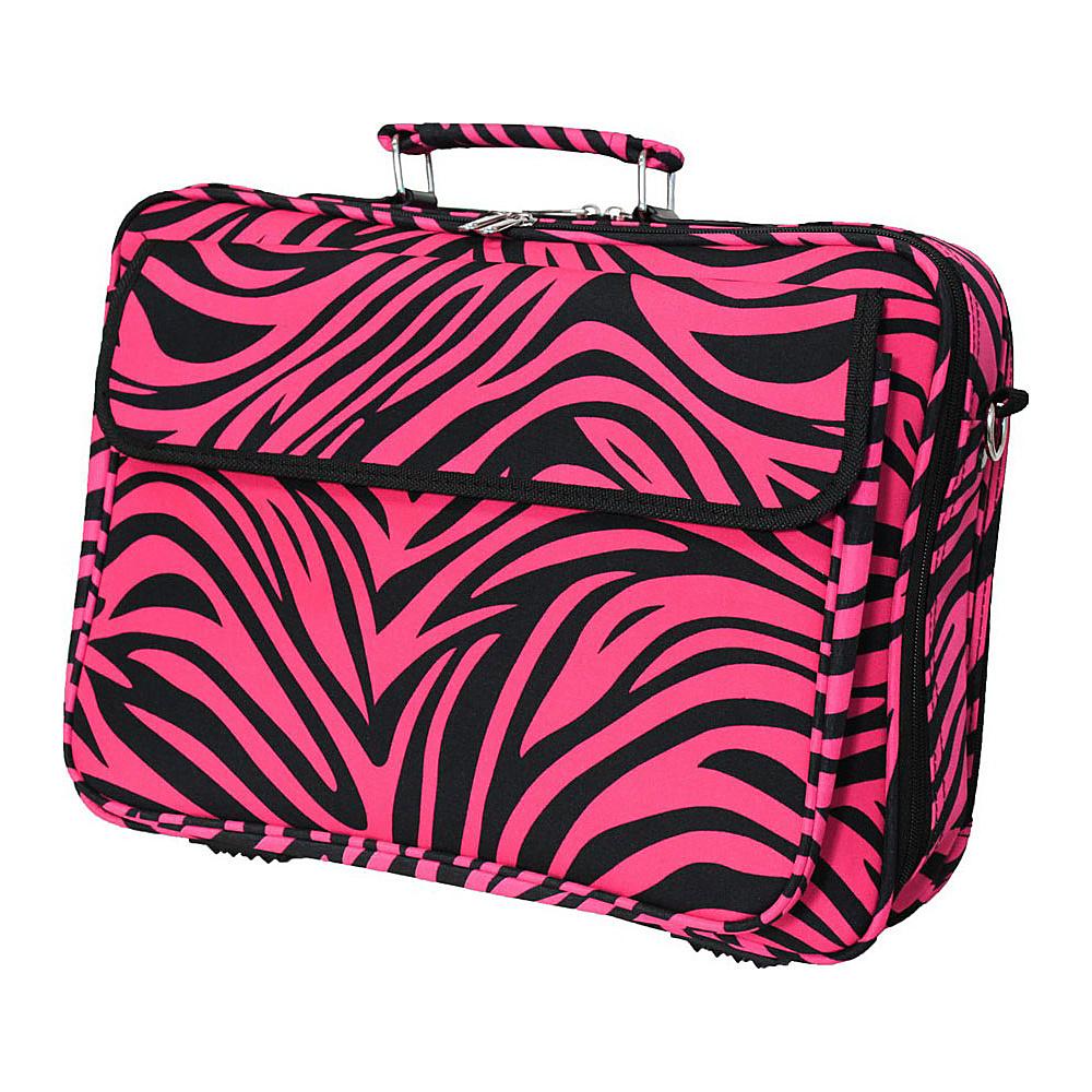World Traveler Zebra 17 Laptop Case Fuchsia Black Zebra - World Traveler Non-Wheeled Business Cases - Work Bags & Briefcases, Non-Wheeled Business Cases