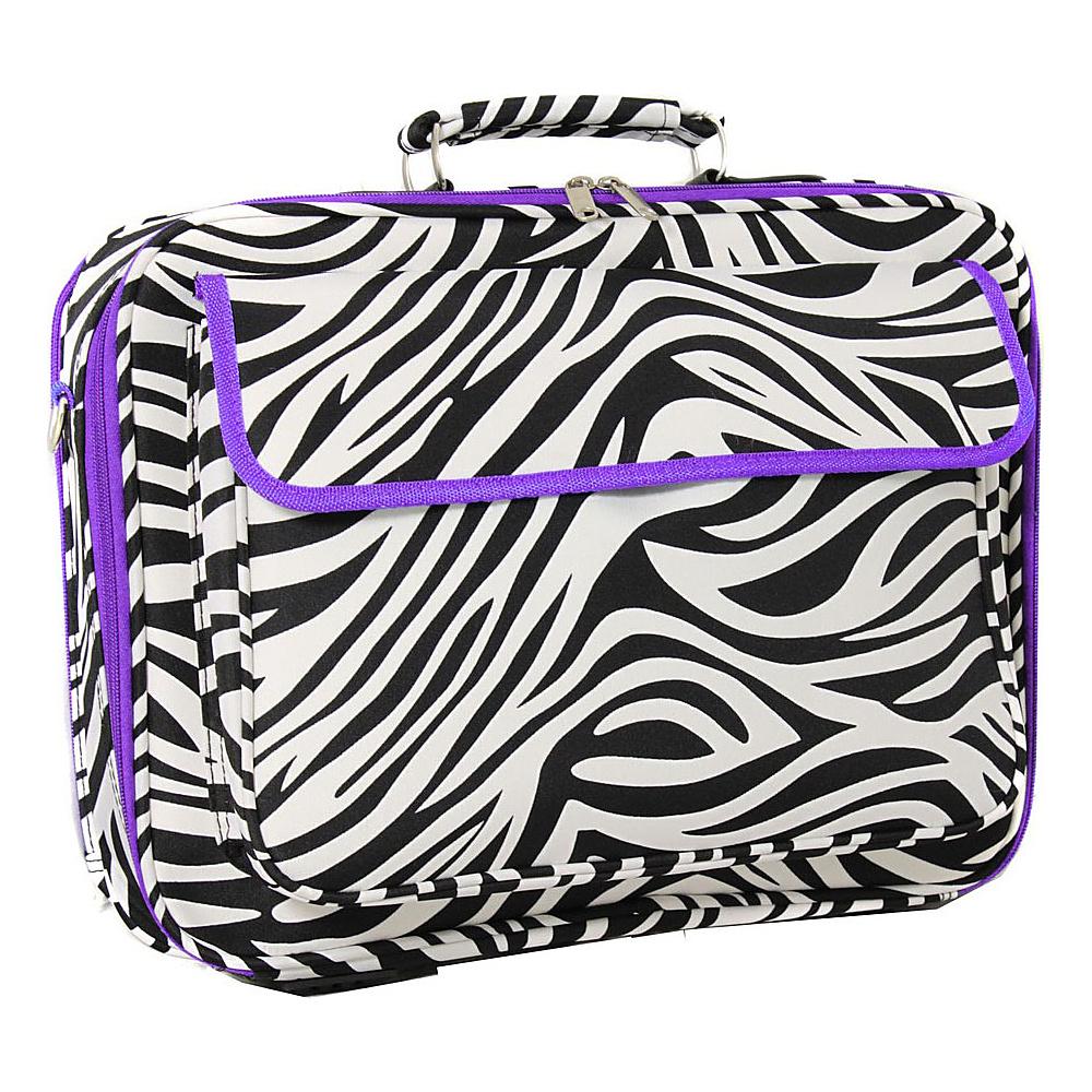 World Traveler Zebra 17 Laptop Case Light Purple-Zebra - World Traveler Non-Wheeled Business Cases - Work Bags & Briefcases, Non-Wheeled Business Cases